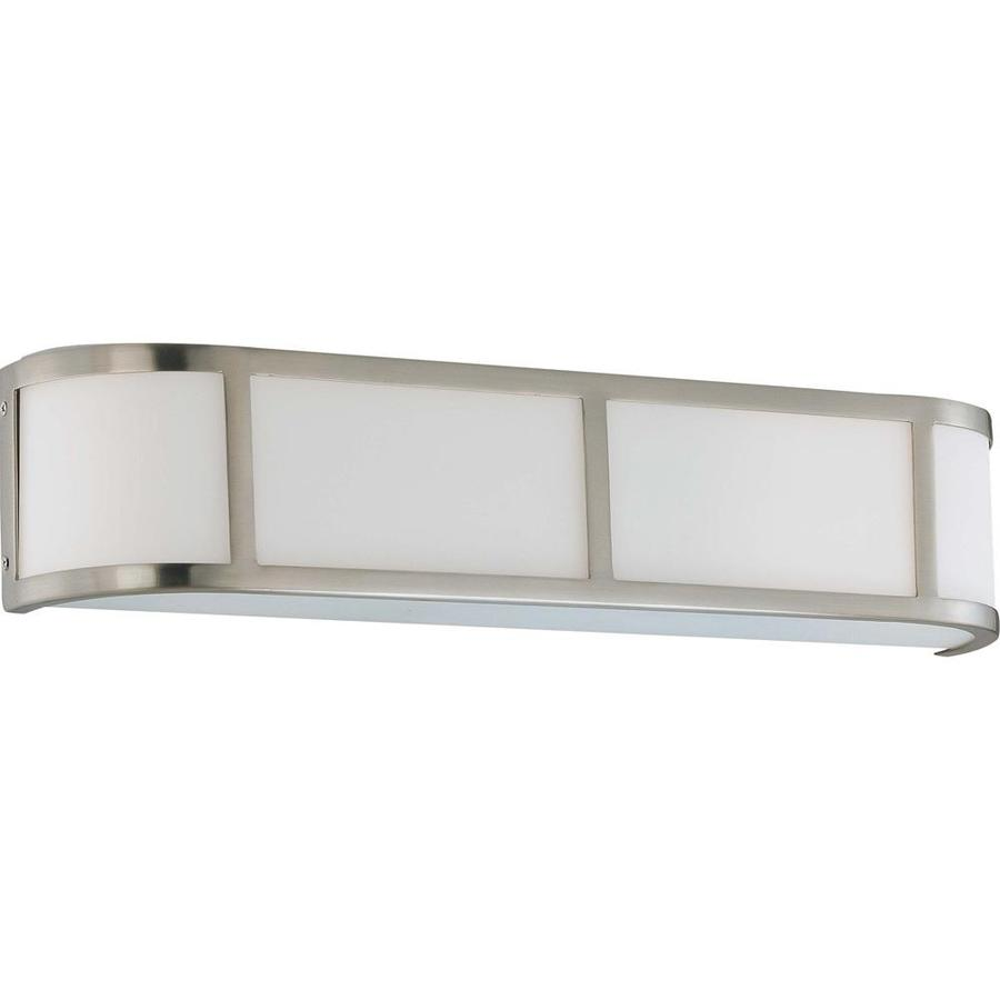Odeon 26.5-in W 1-Light Brushed Nickel Pocket Hardwired Wall Sconce