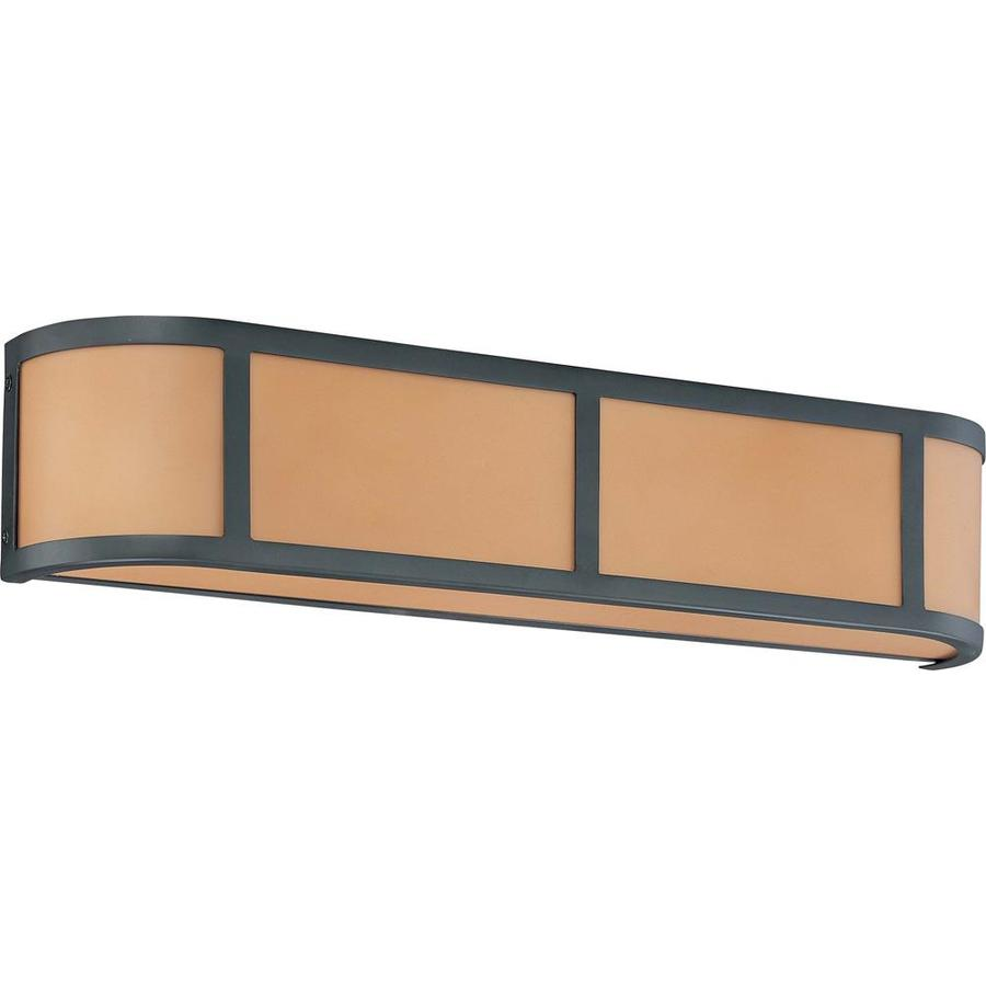 Odeon 26.5-in W 1-Light Aged Bronze Pocket Hardwired Wall Sconce