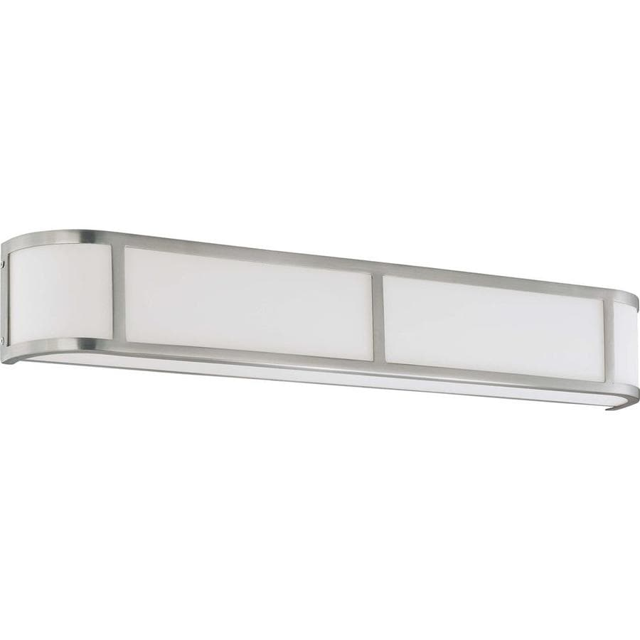 Odeon 34.5-in W 1-Light Brushed Nickel Pocket Hardwired Wall Sconce