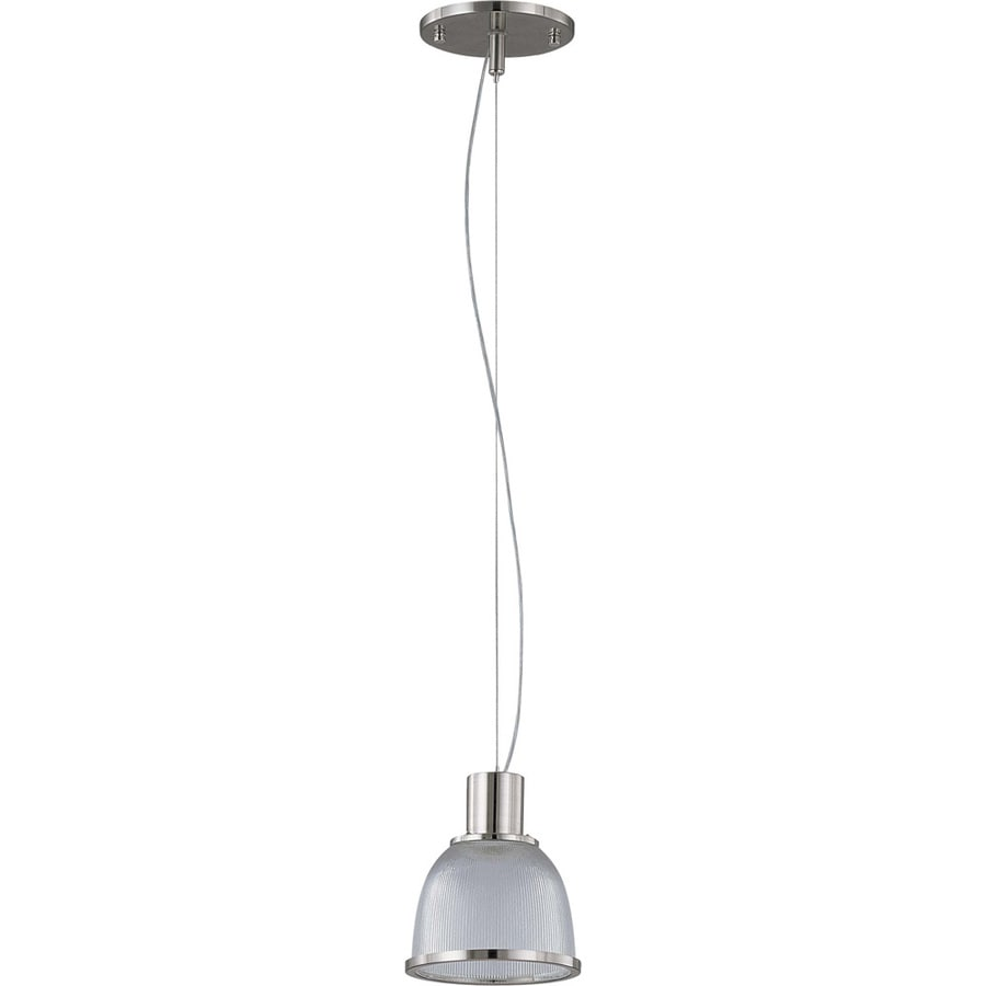 Gear 16-in Brushed Nickel Mini Clear Glass Pendant