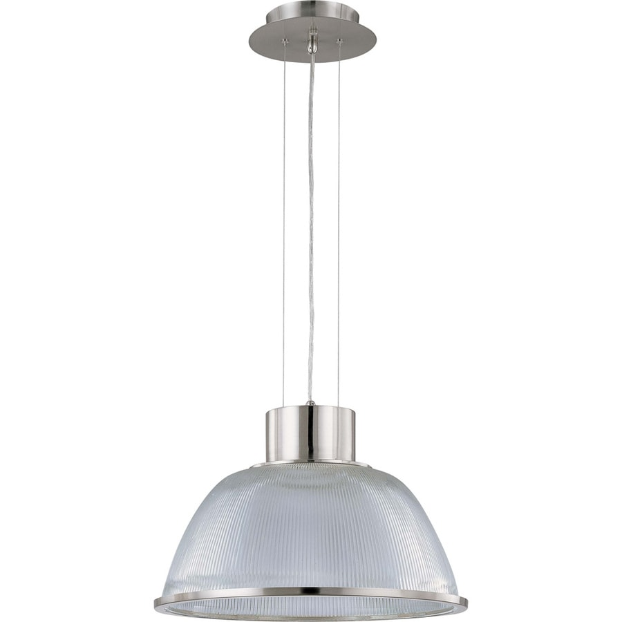 Gear 23.2-in Brushed Nickel Single Clear Glass Pendant