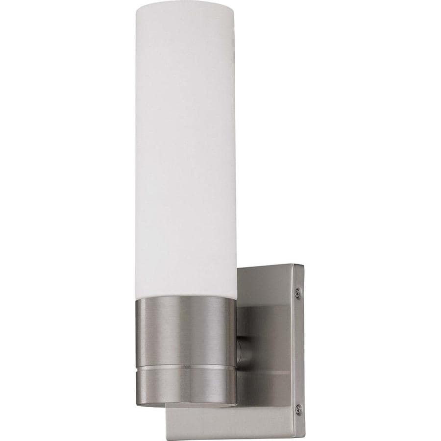 Link 19.11-in W 1-Light Brushed Nickel Arm Hardwired Wall Sconce