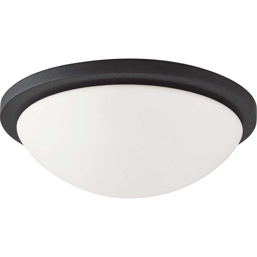 2-in W Textured Black Flush Mount Light
