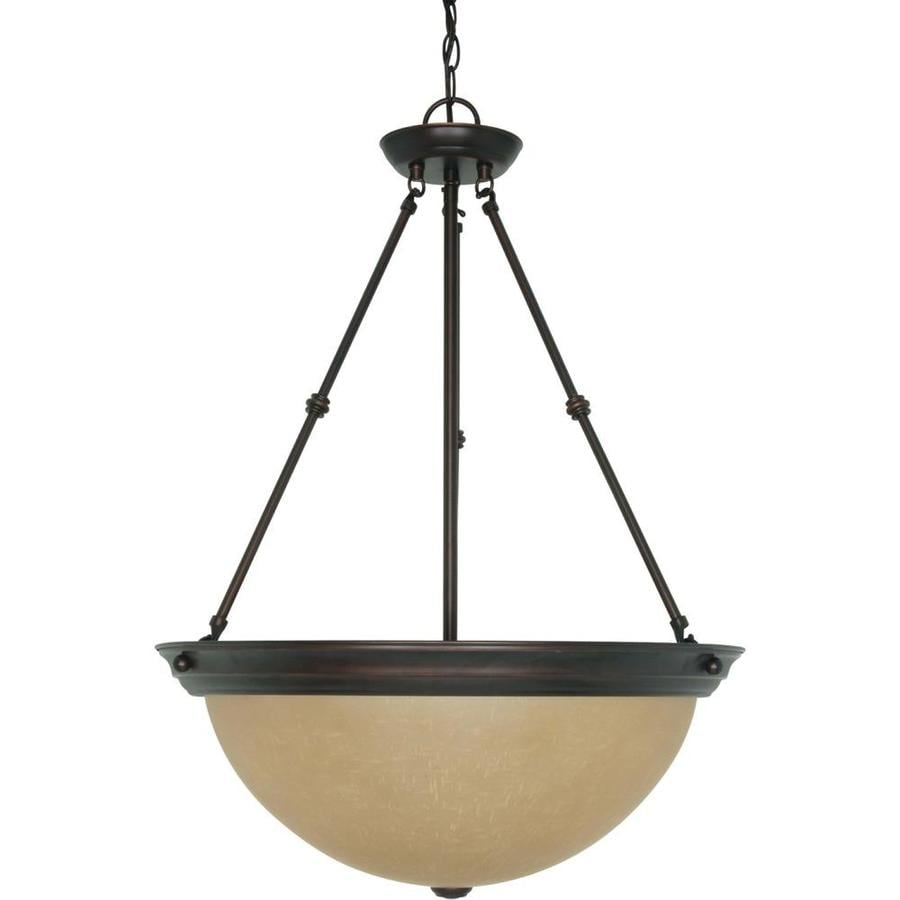 Odeon 20.5-in Mahogany Bronze Single Tinted Glass Pendant