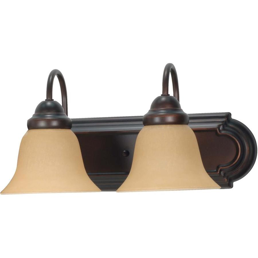 Ballerina 2-Light 7.625-in Mahogany Bronze Vanity Light