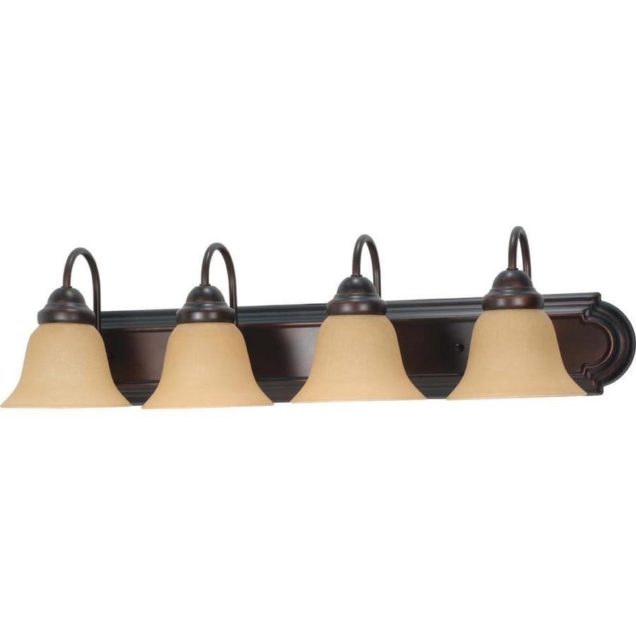 Ballerina 4-Light 7.625-in Mahogany Bronze Vanity Light