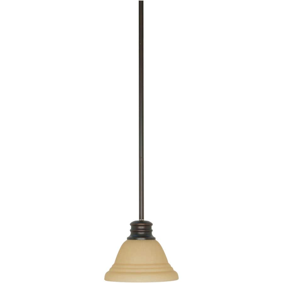 Empire 13-in Mahogany Bronze Mini Tinted Glass Pendant