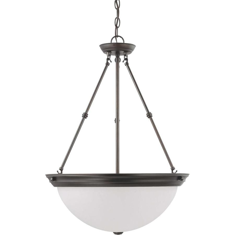 Odeon 20.5-in Mahogany Bronze Single N/A Pendant