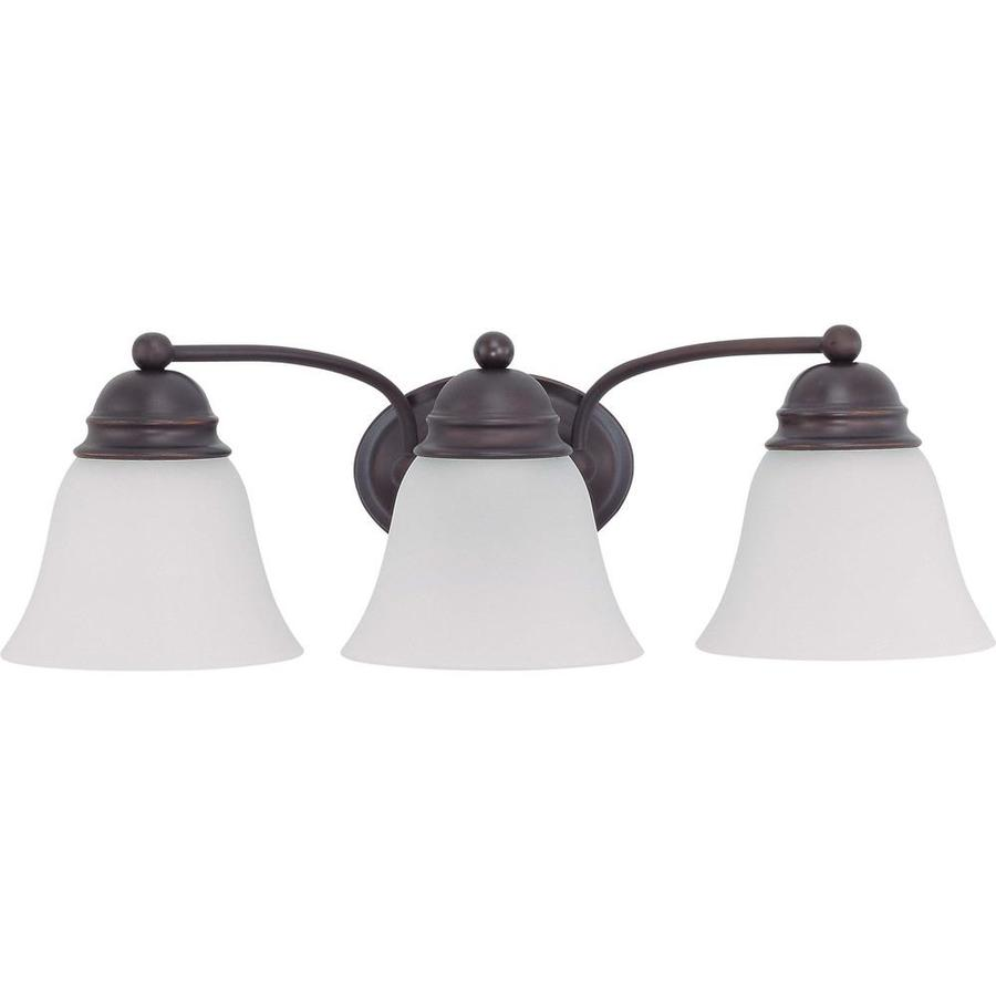 Empire 3-Light 6.125-in Mahogany Bronze Vanity Light