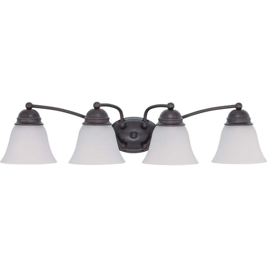 Empire 4-Light 6.125-in Mahogany bronze Vanity Light