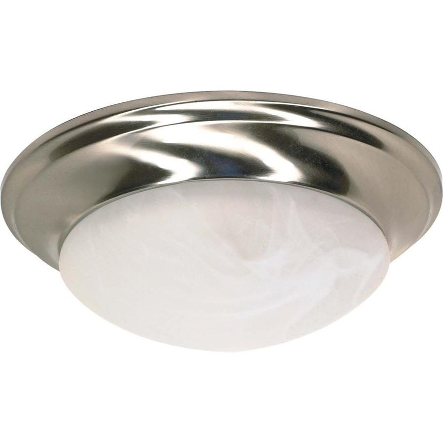 11.5-in W Brushed Nickel Ceiling Flush Mount Light