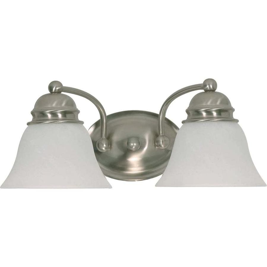 2 Light Vanity Light Brushed Nickel : Shop Empire 2-Light 6.5-in Brushed Nickel Vanity Light at Lowes.com