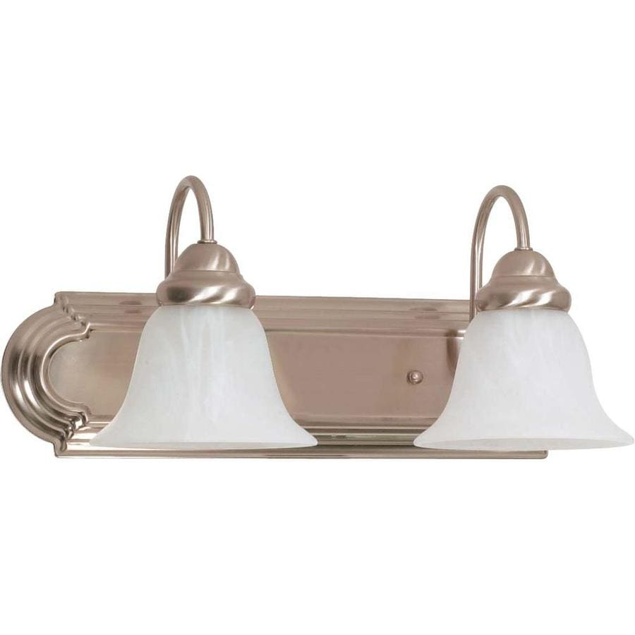 Ballerina 2-Light Brushed Nickel Vanity Light