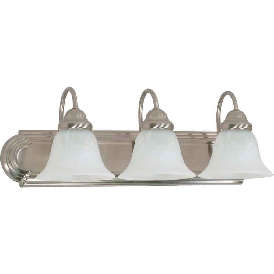 Ballerina 3-Light 7.625-in Brushed Nickel Vanity Light