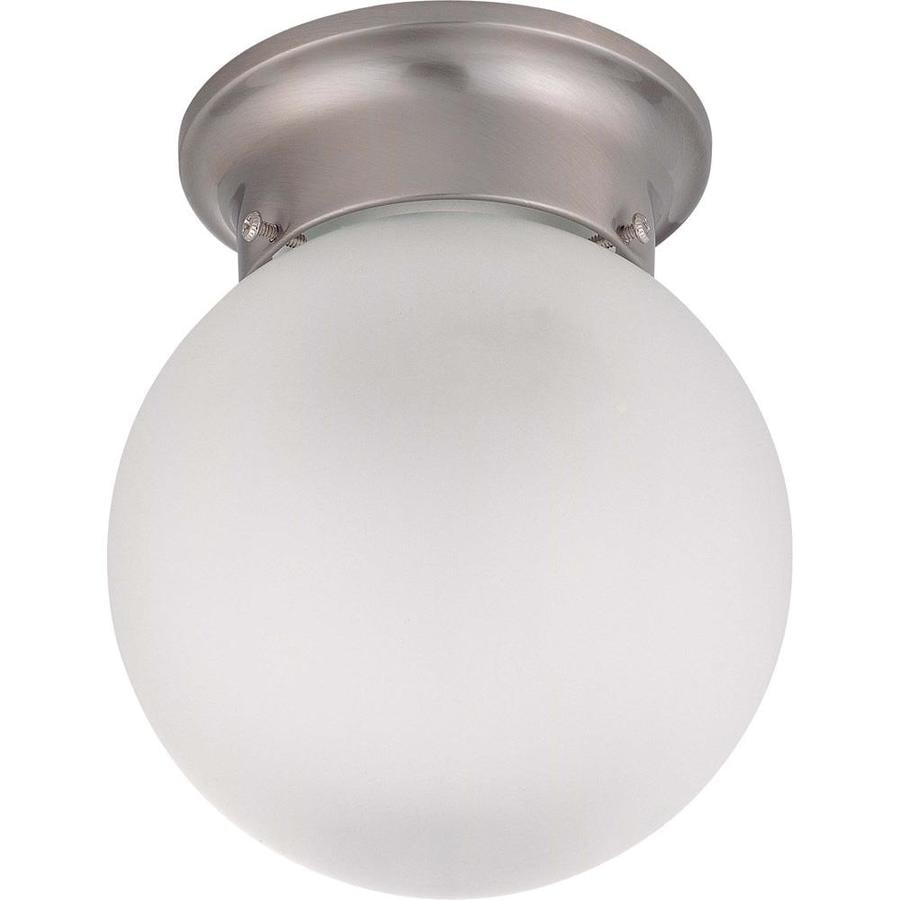 6-in W Brushed Nickel Standard Flush Mount Light