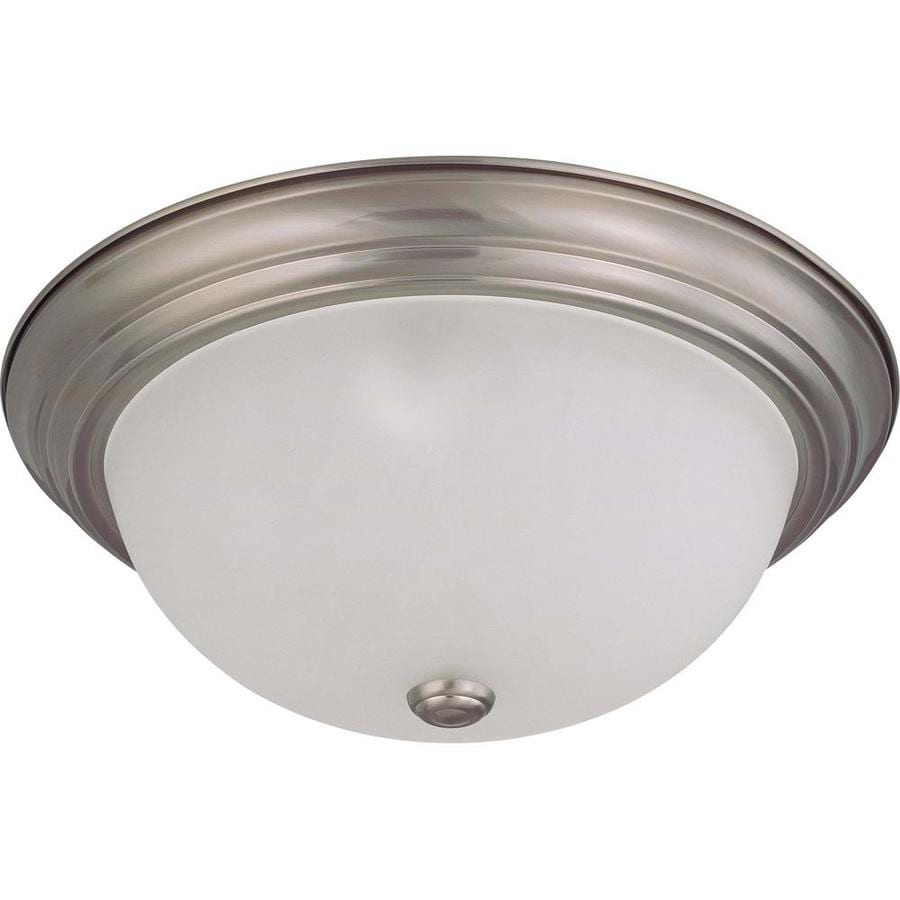 15.25-in W Brushed Nickel Ceiling Flush Mount Light