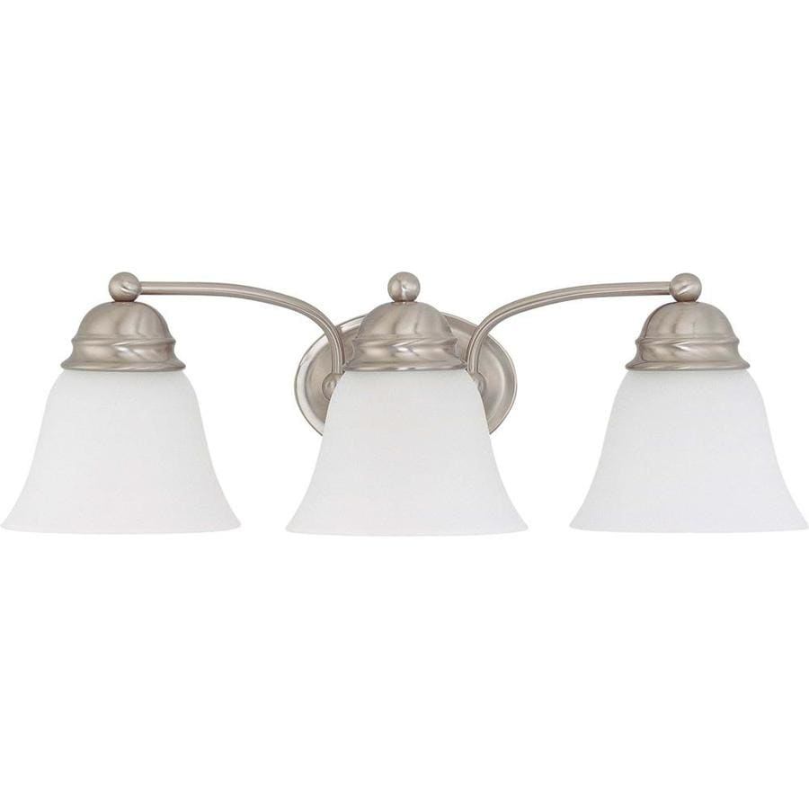 3 Light Vanity Brushed Nickel : Shop Empire 3-Light 6.5-in Brushed Nickel Vanity Light at Lowes.com