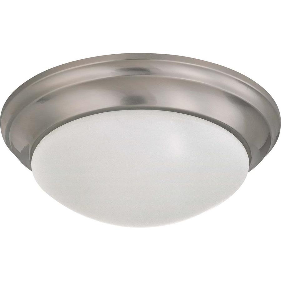 14-in W Brushed Nickel Standard Flush Mount Light
