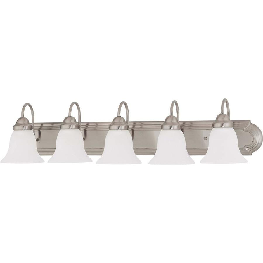 Portia 2-Light 8-in Brushed Nickel Vanity Light