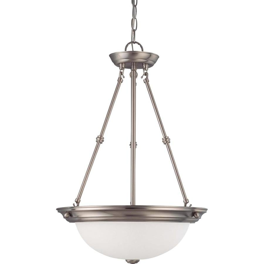 Odeon 16-in Brushed Nickel Single N/A Pendant