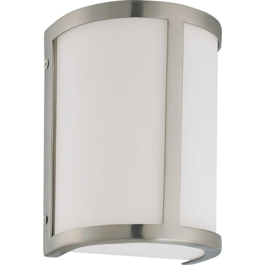 Odeon 10.75-in W 1-Light Brushed Nickel Pocket Hardwired Wall Sconce