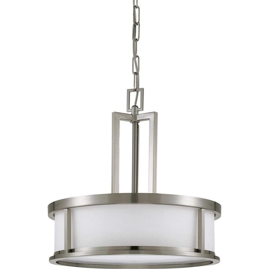 Odeon 20-in Brushed Nickel Single N/A Pendant