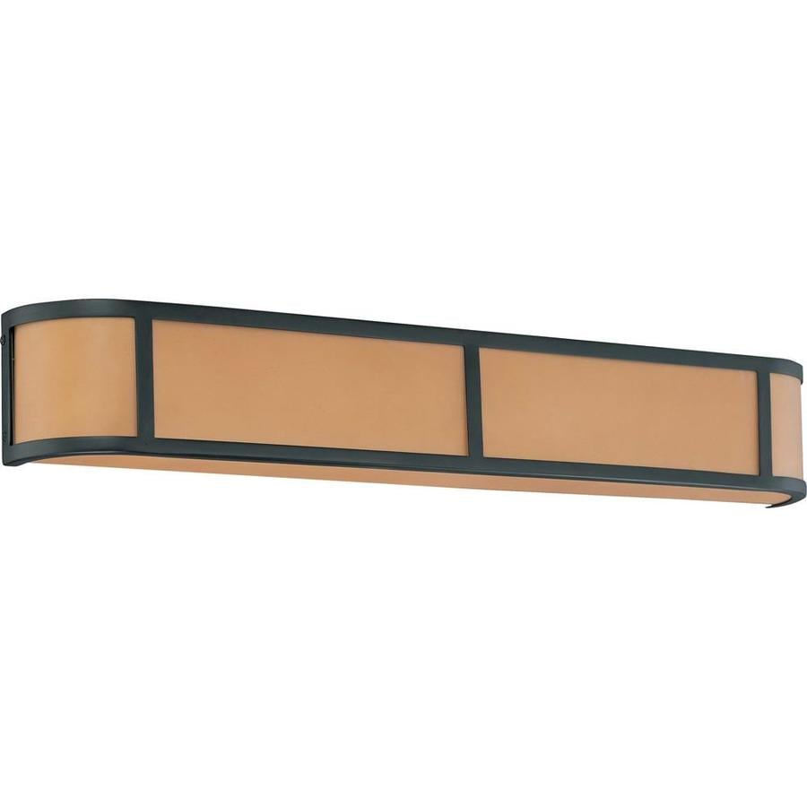 Odeon 34.5-in W 1-Light Aged Bronze Pocket Wall Sconce