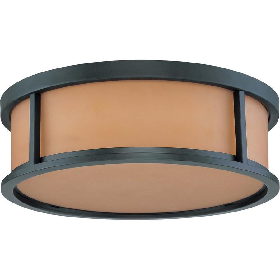 15-in W Aged Bronze Ceiling Flush Mount Light