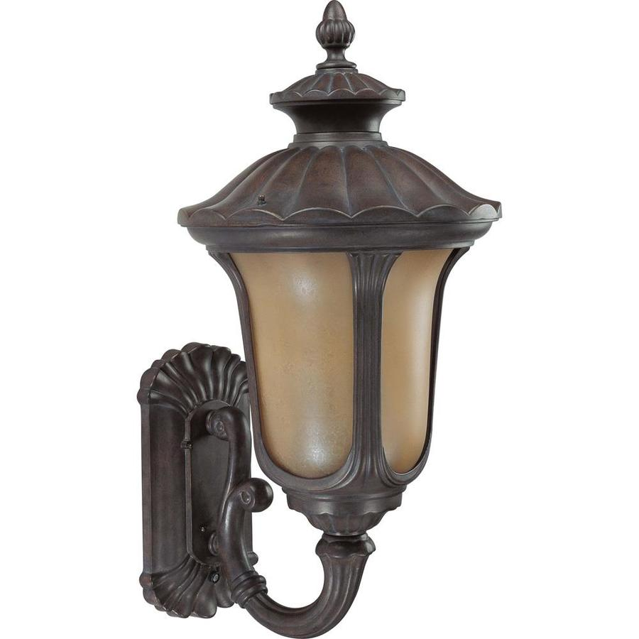 23.03-in H Fruitwood Bronze Outdoor Wall Light