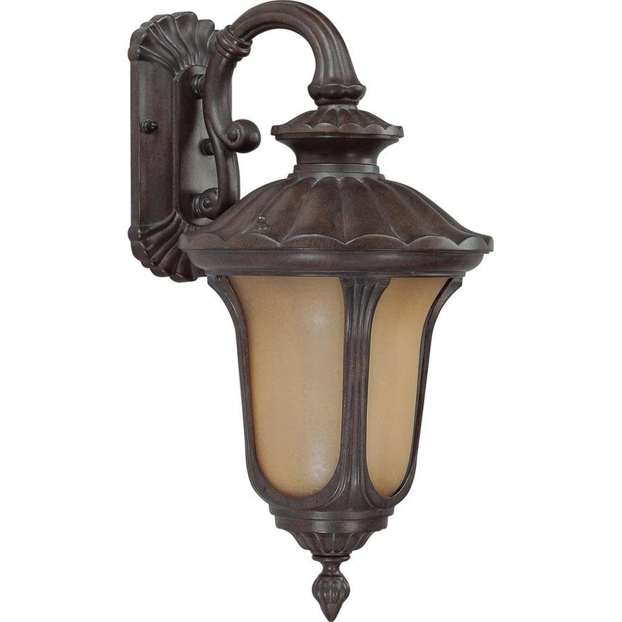 28.43-in H Fruitwood Bronze Outdoor Wall Light