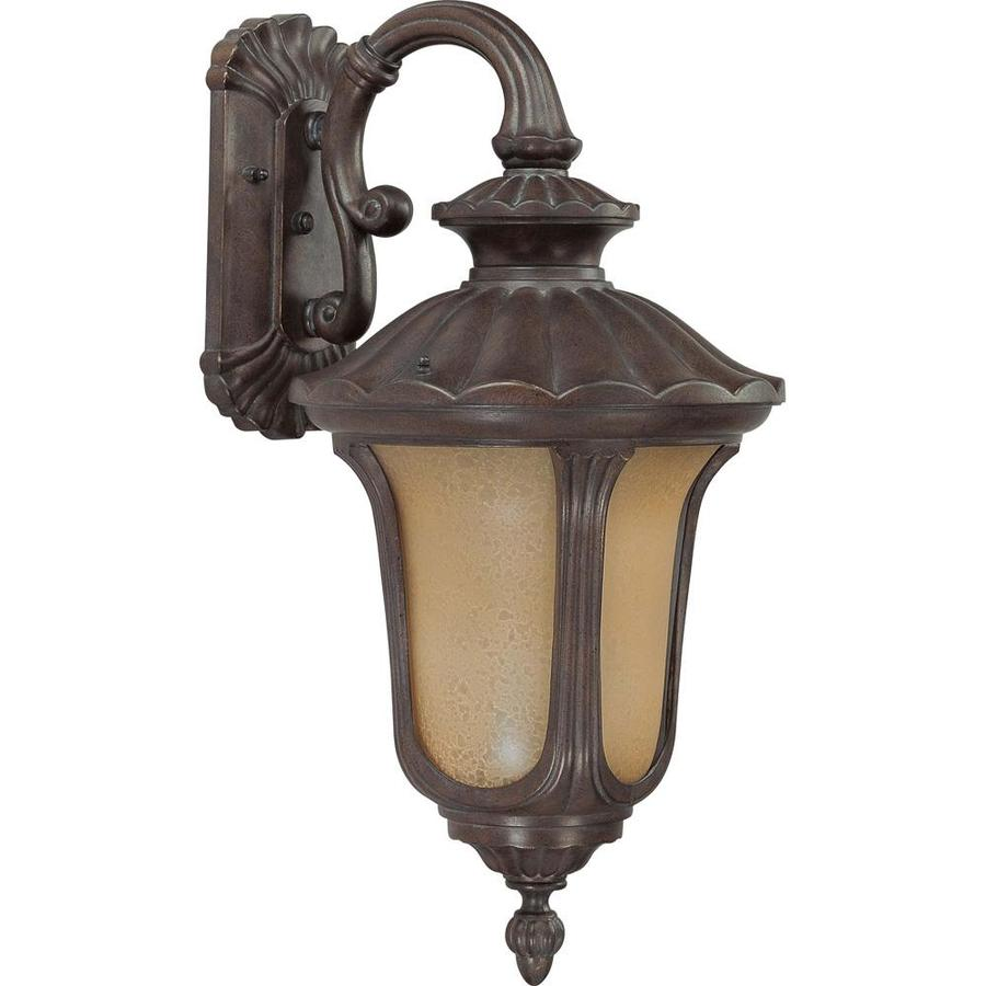 20.09-in H Fruitwood Bronze Outdoor Wall Light