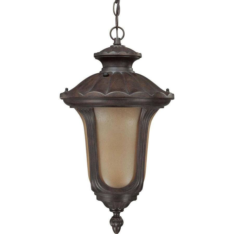 12.74-in W Fruitwood Bronze Outdoor Flush-Mount Light