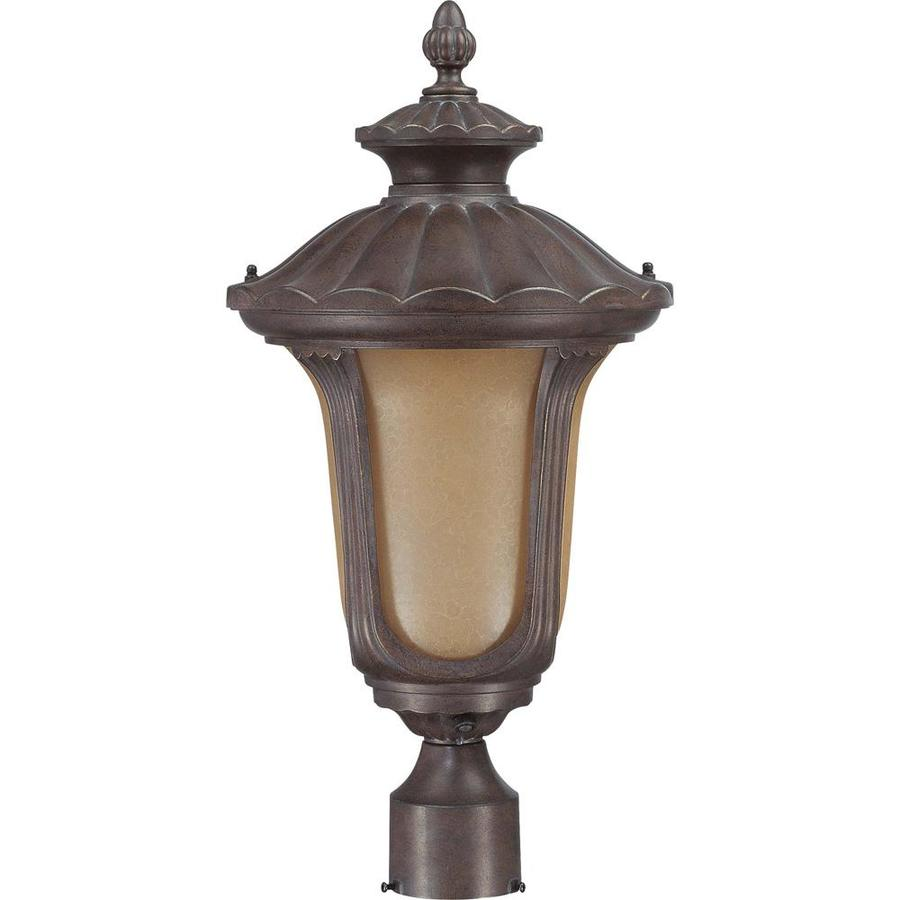 Beaumont 18.62-in H Fruitwood Bronze Post Light