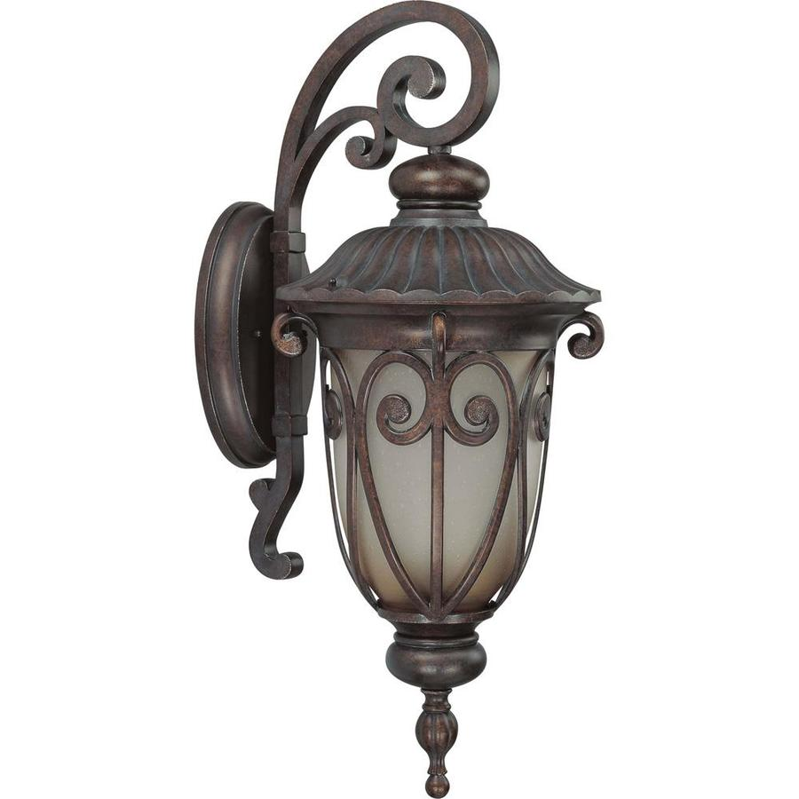 29.41-in H Burlwood Bronze Outdoor Wall Light