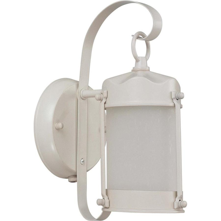 12.74-in H White Outdoor Wall Light