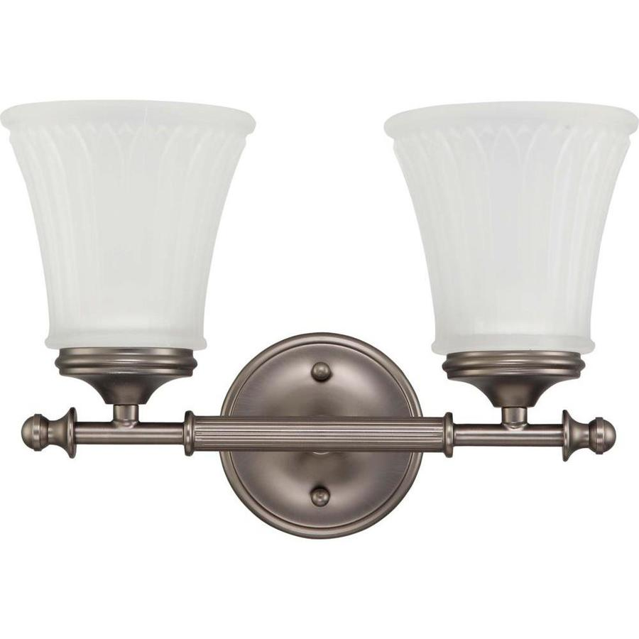 Teller 1-Light 9-in Aged pewter Vanity Light