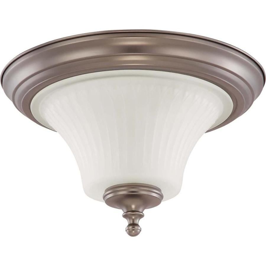 2-in W Aged Pewter Flush Mount Light