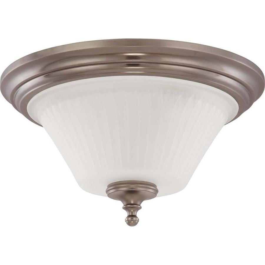 3-in W Aged pewter Flush Mount Light