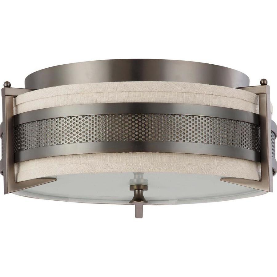 3-in W Hazel Bronze Flush Mount Light