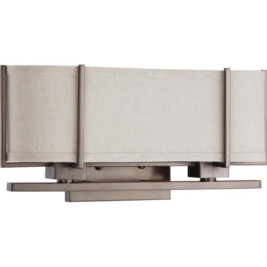 Portia 17.25-in W 1-Light Hazel Bronze Arm Hardwired Wall Sconce