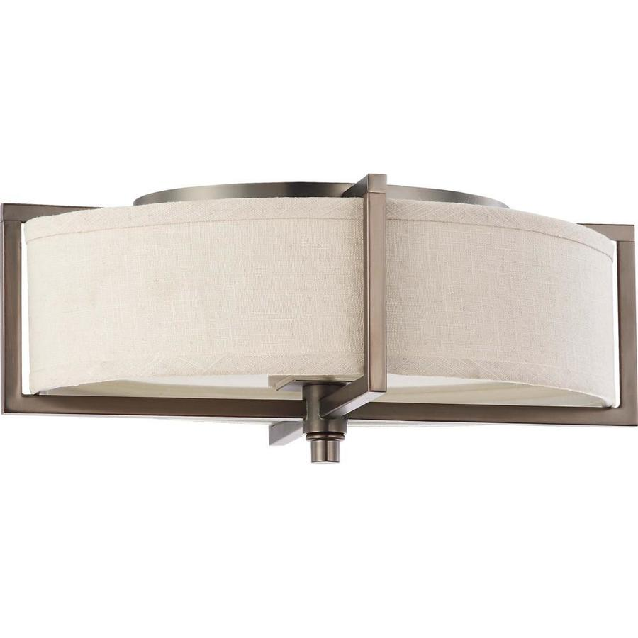 2-in W Hazel Bronze Flush Mount Light
