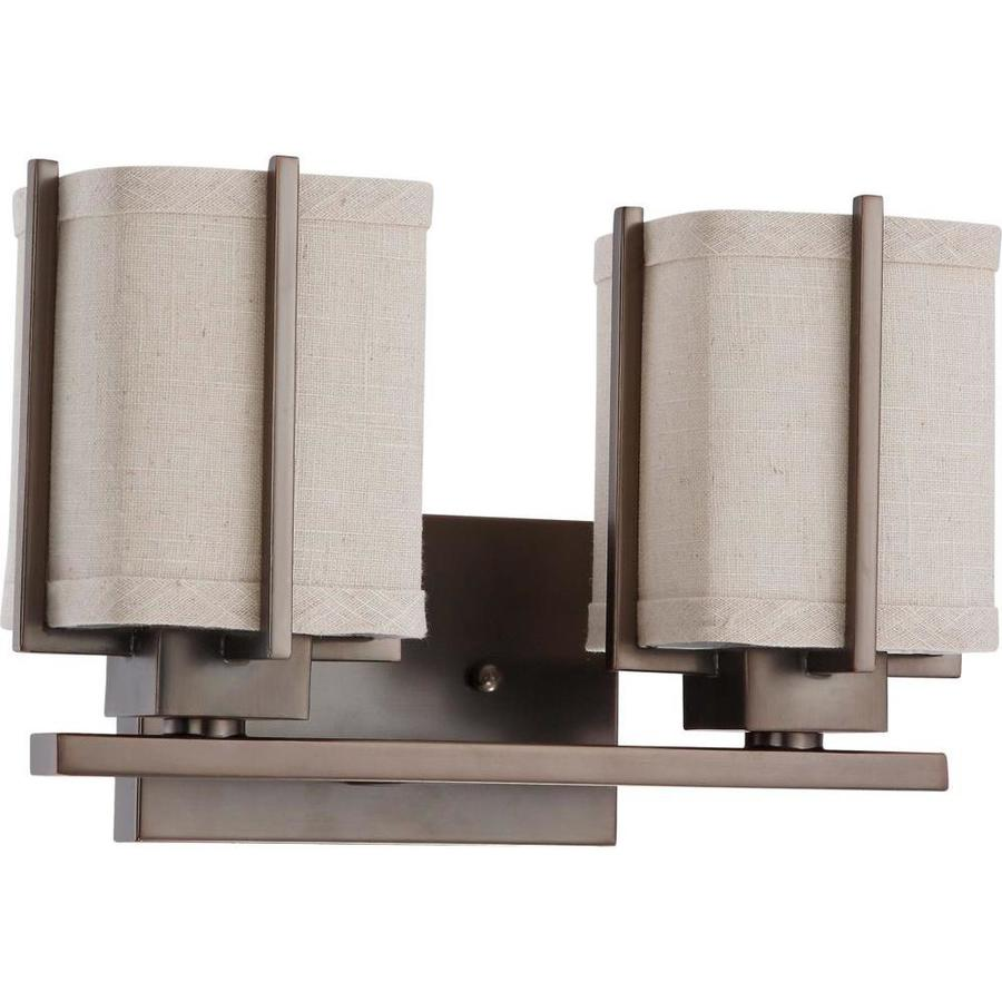 Logan 1-Light 8-in Hazel Bronze Vanity Light