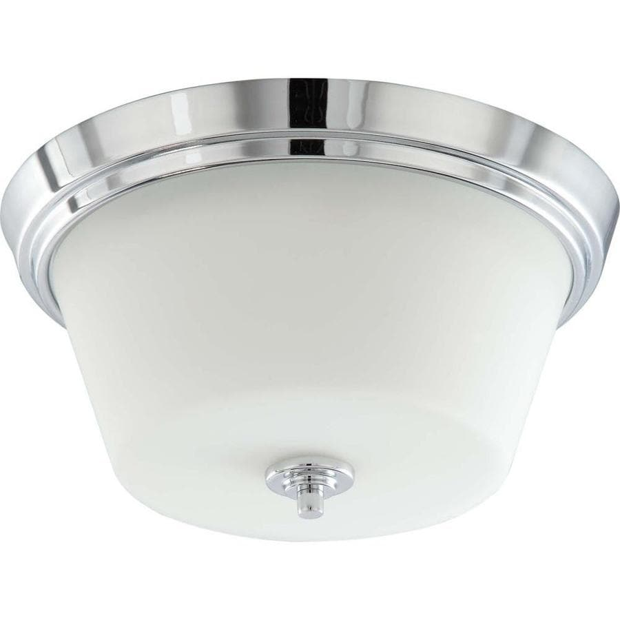 13-in W Polished Chrome Standard Flush Mount Light