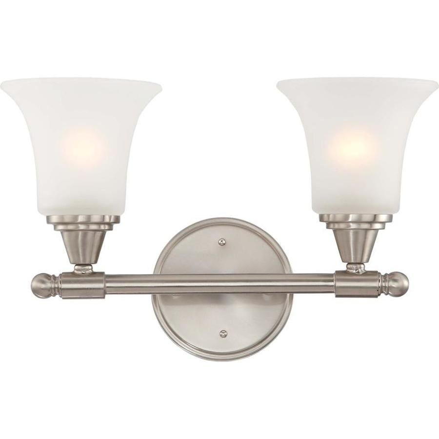 Vanity Lights In Brushed Nickel : Shop Surrey 1-Light 10.25-in Brushed nickel Vanity Light at Lowes.com