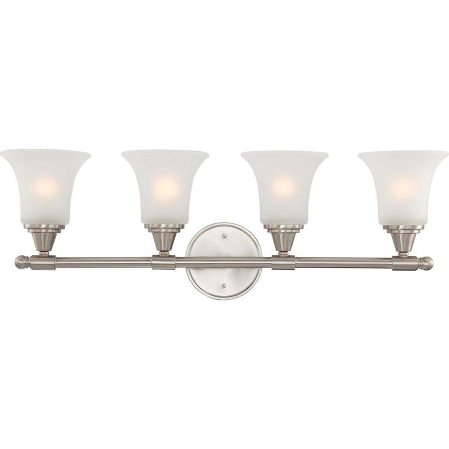 Surrey 3-Light 10.25-in Brushed Nickel Vanity Light
