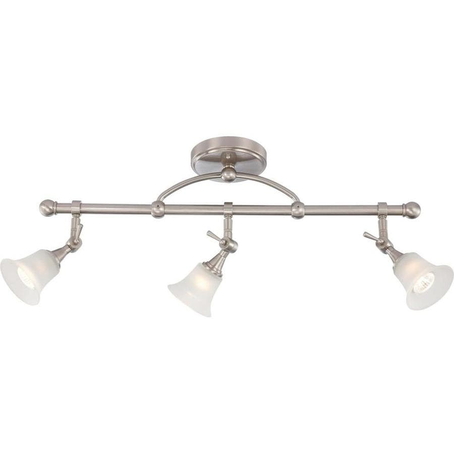 Surrey 5.5-in 3-Light Brushed Nickel Tinted Glass Linear Chandelier