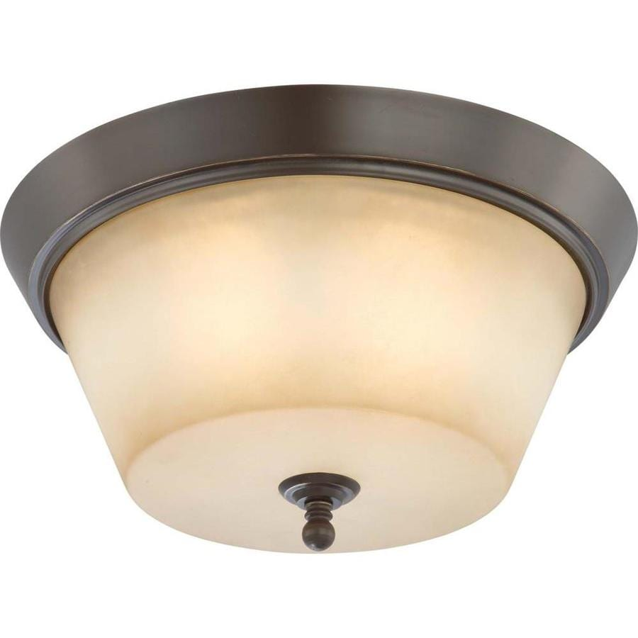 15.5-in W Vintage Bronze Standard Flush Mount Light