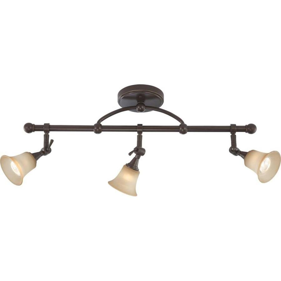 Surrey 5.5-in 3-Light Vintage Bronze Tinted Glass Linear Chandelier