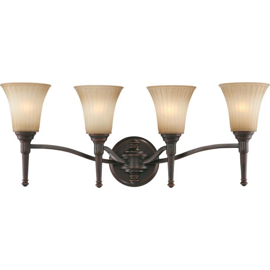 Franklin 3-Light 11.5-in Georgetown Bronze Vanity Light