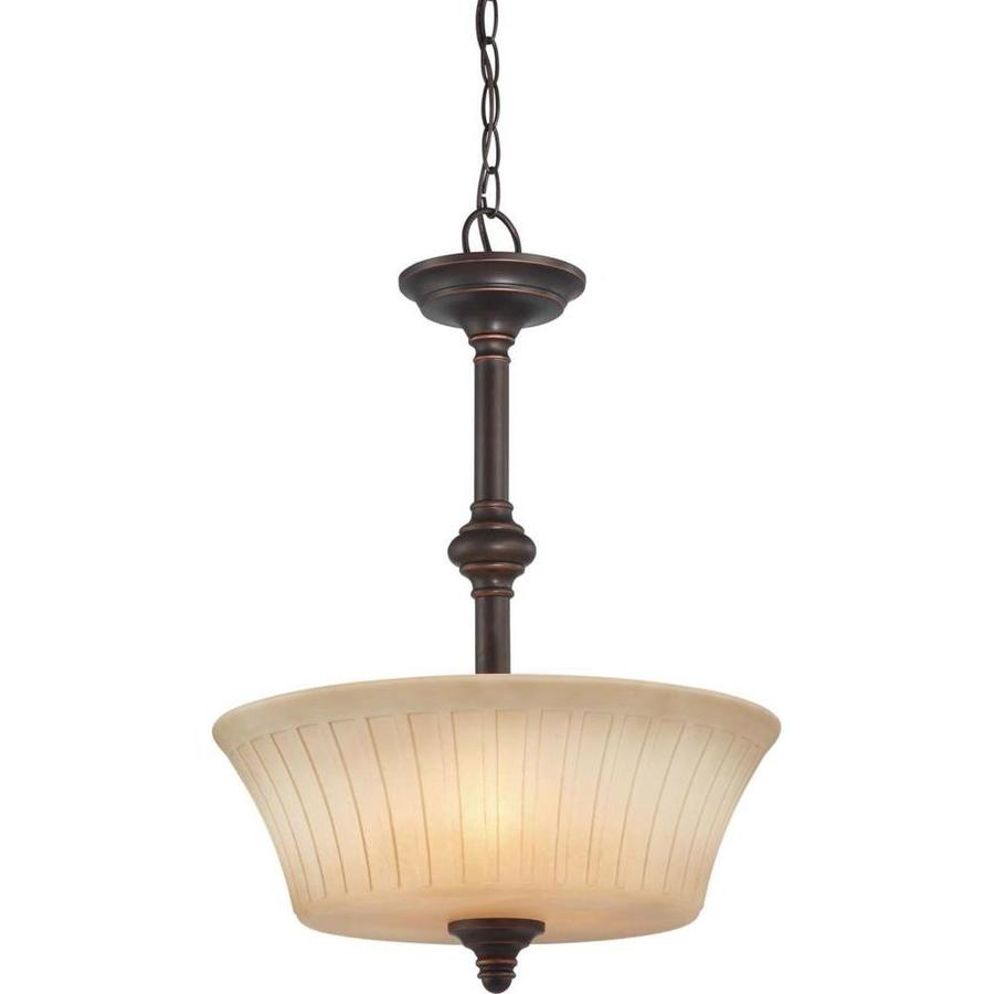 Franklin 8.87-in Georgetown Bronze Single Tinted Glass Pendant